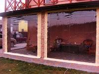 Прозрачные шторы из ПВХ пленки (Ахиллес, Япония)