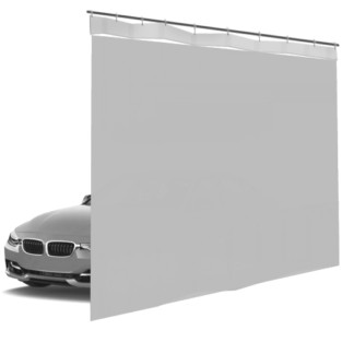 Шторы ПВХ для автомойки сплошные, цвет серый 1м³